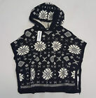 Внешний вид - NWT Old Navy Toddler Girls Size S M L Black & White Fair Isle Sweater Poncho