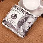 Men US Dollar Bill Wallet PU Leather Wallet Bifold Hasp Credit Card Photo Bags