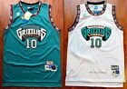 Mike Bibby 10 Vancouver Grizzlies 1998 99 Throwback Jersey Green White