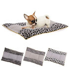 Soft Dog Cotton Bed Mat with Lovely Stripe Warm Puppy Kitty Cage Blanket