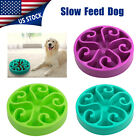 Non Slip Pet Dog Puppy Slow Down Eating Feeding Bowl Anti Choke Dish Food 7.8'