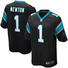 New Cam Newton #1 Carolina Panthers Mens Game All Sewn Jersey Black