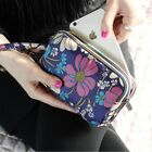 Внешний вид - Small Printing Canvas Clutch Bag Multifunction Phone Coin Flower Wall Purse