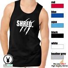 SHRED Men's Muscle Tank T-Shirt Workout Gym BodyBuilding MMA Fitness D529 image