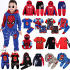 Spiderman Kids Toddler Boys Tracksuit Hoodie Joggers Sweatshirt T Shirt Outfits