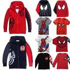 Toddler Baby Kids Boy Spiderman T Shirt Top Hooded Hoodie Sweatshirt Jacket Coat