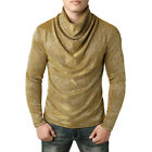 US Men's Winter Knitted Sweater Slim Fit Jumper Pullover Blouse Tops Shirt