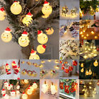 Christmas LED String Lights Snowman Fairy Indoor Outdoor Party Xmas Tree Decor