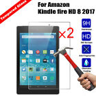 Screen Protector For Amazon Kindle fire 7 HD 8 Tablet Tempered Glass Cover Film