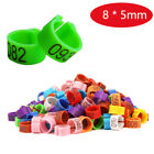 Внешний вид - 8x5mm Chicks Rings Digital 1~100 Numbered Poultry Leg Bands Bird Pigeon Parrot