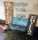 Farmhouse Rustic Wood Welcome Sign, Home Decor - Door, Porch, All Rooms - Custom