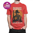 Red Dead Redemption 2 T-shirt RDR2 Men And Women Tee Red Cotton Full Size image
