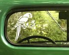 2 PARROT BIRD DECAL Stickers For Car Window Truck Bumper Laptop Jeep Rv