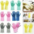 Magic Reusable Silicone Gloves Cleaning Brush Gloves Heat Resistant Dishwasher