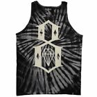 Rebel8 Logo Tie Dye Tank Top Schwarz