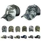 Baseball Cap Military Caps CAMO Mesh Trucker Plain Snapback Army Real Tree Hats