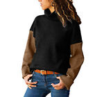 Women's Winter Turtleneck Baggy Tops Chunky Knit Sweater Knit Pullover Jumper US