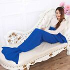 77inches Adult Mermaid Tail Sofa Blanket Super Warm Hand Crocheted Knitted Quilt