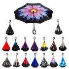 Double Layer Inverted Umbrella Self Stand Umbrella Windproof Reverse Folding