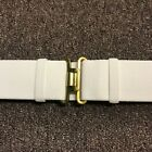 BRITISH ARMY SURPLUS No.1-2  DRESS WHITE NYLON TEXTILE 55mm BELT,LOOPS & BUCKLE