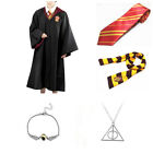 Adult Child Cosplay WandHarryPotter Hogwarts Robe Cloak Costume Cape Tie Scarf
