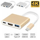 Kyпить Type C USB 3.1 to USB-C 4K HDMI USB 3.0 Adapter Cable 3 in 1 Hub For Macbook Pro на еВаy.соm