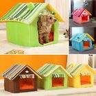4 Styles Striped Dog Bed Removable Cover Mat Dog House for Small Medium Dogs Bed