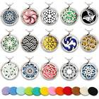 Aromatherapy Necklace Stainless Steel Essential Oil Diffuser Locket Size 30mm $7.59 USD on eBay