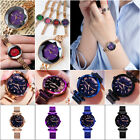 Luxury Starry Sky Watch Magnetic Diamond Stainless Buckle Wristwatch Women Gift image