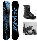 """NEW M8TRIX """"BLUE"""" SNOWBOARD, BINDINGS, BOOTS PACKAGE - 163cm Wide"""