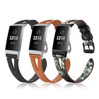 For Fitbit Charge 3 / Charge 3 SE Leather Band Wrist Strap with Classic Buckle image