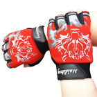 Hot Mens Antiskid Cycling Bike Gym Fitness Sports Breathable Wolf Head Gloves US