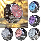 Dial Quartz Analog Watch Creative Steel Mini Elastic Quartz Finger Ring Watch Y