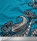 Soimoi Fabric Geomertic & Paisley Printed Craft Fabric by the Yard - PSL-518D