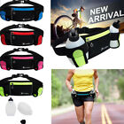 Gym Running Belt Jogging Cycling Waist Pack Pouch Sports Bag 280ml Water Bottles image
