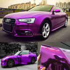 Stretchable Diy Purple Car Part Glossy Mirror Chrome Vinyl Wrap Sticker Sheet Ab