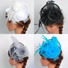 US Women Fascinator Hat Head Clip Cocktail Wedding Party Church Headpiece Wrap