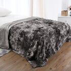 Luxury Faux Fur Bed Throw Blanket Super Soft Winter Fuzzy Cozy Warm Fluffy Sofa image
