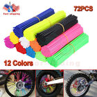 72PCS Spoke Skins Covers Motocross Dirt Bike Wheel Rim Guard Protector Wraps New $6.26 USD on eBay