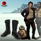 Star Wars The Last Jedi Poe Dameron Cosplay Leather Boots Shoes Customize $69.99 USD on eBay