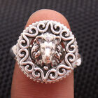 Lion face Ring 925 Sterling Silver charms solid designer Ring Jewelry all Size