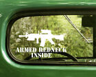 2 Armed Redneck Inside Ar15 Decals Sticker For Car Window Truck Bumper Laptop