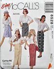McCalls Sewing Pattern # 6528 Misses Wrap Skirt in 2 Lengths Choose Size