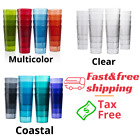 Drinking Glasses Beverage Tumblers Risistanc Plastic Clear 20 Oz new Set of 16