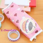 Pouch School Stationery Kawaii Chocolate Biscuit PU Leather Pencil Case Pen Bag