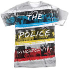 Authentic The Police Synchronicity Album Band Sublimation Allover Front T-shirt