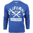 Mens South Shore California Applique Patches Sweatshirt Cracked Printed Jumper