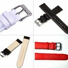 Women Men Unisex Genuine Leather 4 Color Watch Strap Band Replacement Watch Belt image