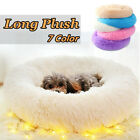23.6'' Long Plush Soft Pet Cat Dog Bed Puppy Cave Deep Sleep Nest House Cushion