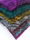 Mexican Poncho Blanket Serape sweater Artisan coat vest ONE SIZE FITS ALL